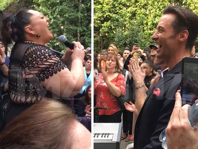 Hugh Jackman Introduces 'Greatest Showman' Singer at Party for Sports and Entertainment Stars