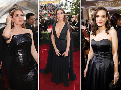 Golden Globes Actresses No Stranger to Black Dresses