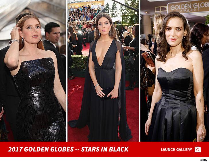 Golden Globes Actresses No Stranger To Black Dresses Tmz