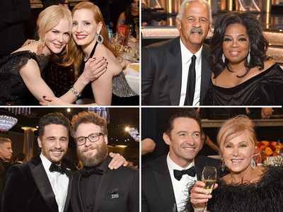 Golden Globes 2018, Smiles Behind the Scenes