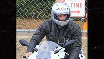 Ben Affleck Rides Hot BMW Motorcycle Before Golden Globes