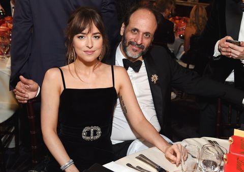 Dakota Johnson and director Luca Guadagnino
