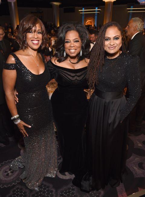 Gayle King, Oprah Winfrey and Ava DuVernay