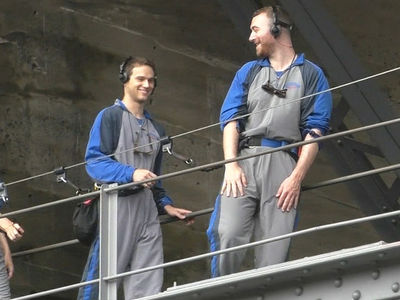 Sam Smith and Boyfriend Brandon Flynn Climb Sydney Bridge