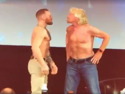 Conor McGregor Has Shirtless Face-Off with Richard Branson