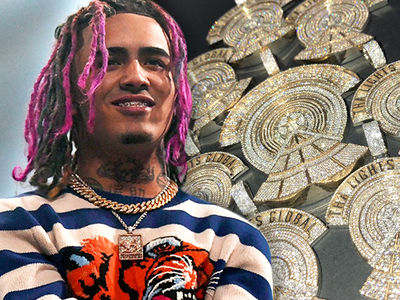 Lil Pump Hooks Crew Up with $350k in Chains