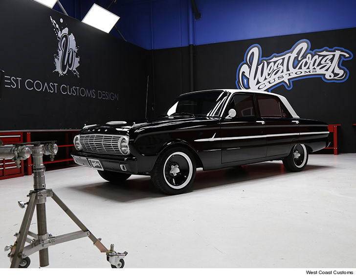 joe jonas rides off in fully restored 1963 ford falcon by west coast customs. Black Bedroom Furniture Sets. Home Design Ideas