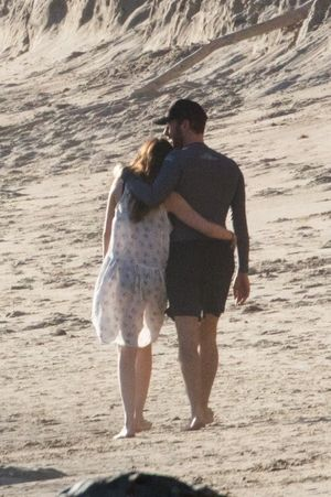 Dakota Johnson and Chris Martin on the Beach in Malibu