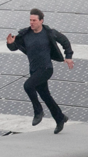 Tom Cruise Filming for the New Mission Impossible Movie