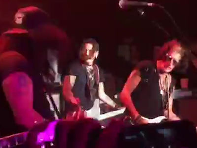 Johnny Depp Jams With Joe Perry, Slash & Duff McKagan