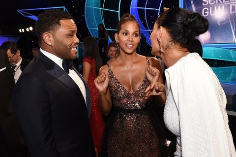 Anthony Anderson, Halle Berry and Tracee Ellis