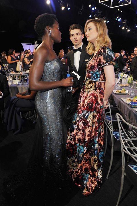 Lupita Nyong'o  and Brie Larson
