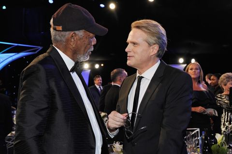 Cary Elwes and Morgan Freeman