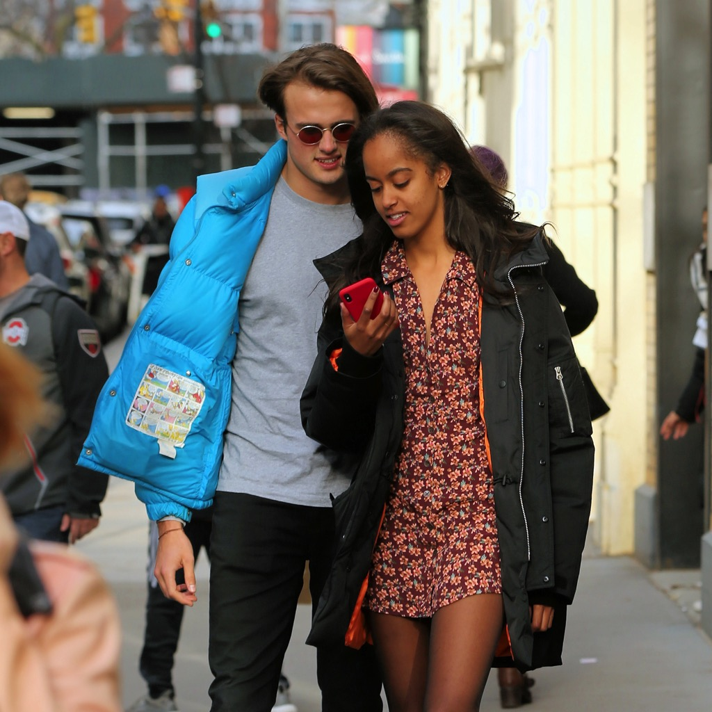 Malia Obama with boyfriend Rory Farquharson in New York ...