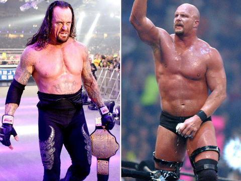 The Undertaker (52) vs. Stone Cold Steve Austin (53) -- RAW 25 Edition