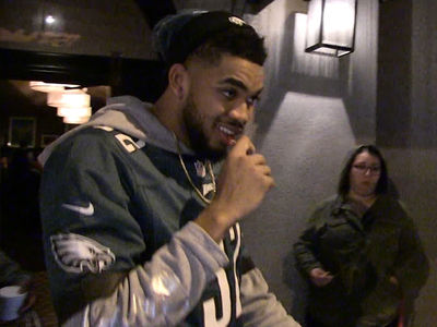 Karl-Anthony Towns Stoked About Eagles: Bring On the Patriots!