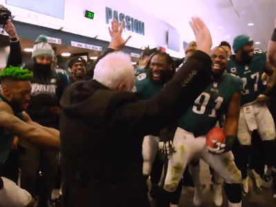 Eagles Locker Room Turnt Up After They Punished The Vikings