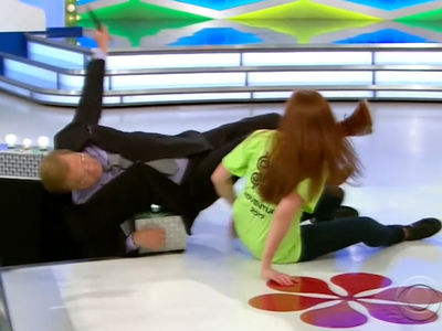 Drew Carey Yanked to Ground by 'Price is Right' Hug Fail with Wild Contestant