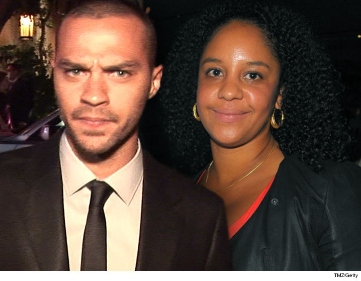 Jesse Williams fires back at estranged wife and says he does NOT have a girlfriend.