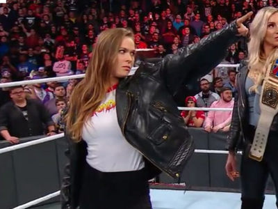 Ronda Rousey Crashes Royal Rumble, Signs Full Time WWE Contract