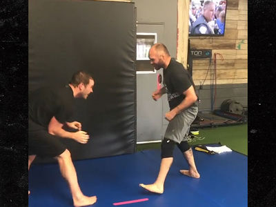 Chris Pratt Takes On Randy Couture at Famous MMA Gym