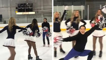 Nancy Kerrigan Joins Patriots Cheerleading Squad ... On Ice!!