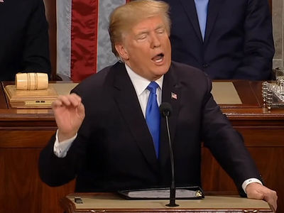 Donald Trump Jabs NFL at State of the Union, 'Stand for the Anthem!'