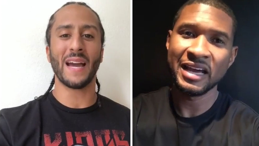 8a5381e51aed2e Colin Kaepernick Teams with Usher to Complete  1 Million Pledge ...