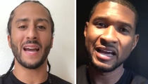 Colin Kaepernick Teams with Usher to Complete $1 Million Pledge