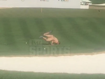 Phoenix Open Streaker Busted Naked Breakdance Moves