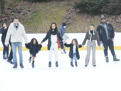 Kourtney Kardashian, Penelope and North West Hit up Central Park Ice Rink