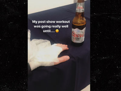 Nick Jonas Hand Injury During Post-Concert Workout