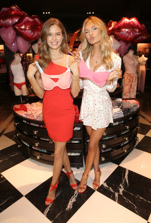 VS Angels Josephine Skriver & Romee Strijd Prepare For Valentine's Day