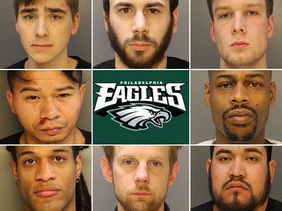 Philadelphia Eagles Mayhem Arrests, Cops Release Celebratory Mug Shots