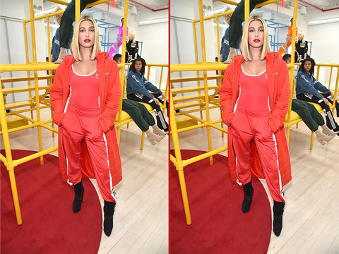 Can you spot the THREE differences in these Hailey Baldwin photos?