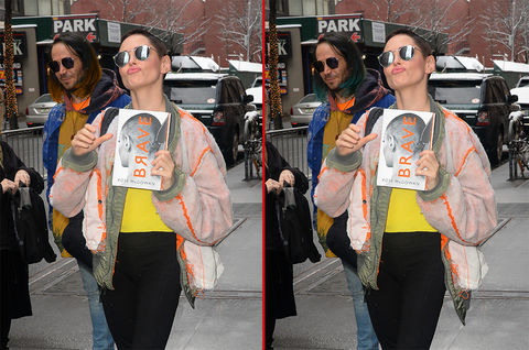 Can you spot the THREE differences in these Rose McGowan photos?