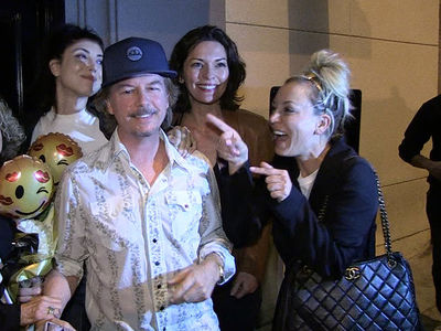 Kaley Cuoco Runs Into David Spade and Goes Gaga