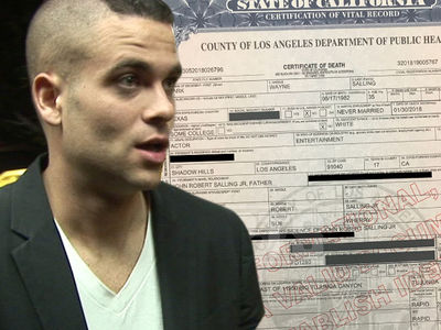 Mark Salling Death Certificate Confirms Death by Hanging