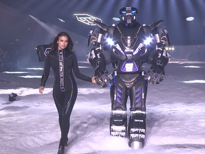 Irina Shayk Struts Out Of UFO For New York Fashion Week