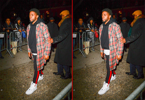 Can you spot the THREE differences in these Chadwick Boseman photos?