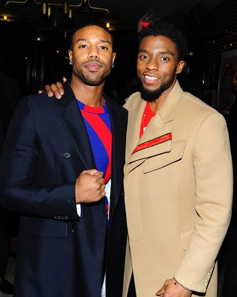 Chadwick Boseman and Michael B. Jordan