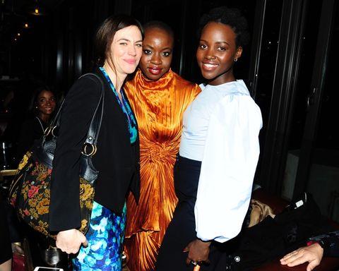 Maggie Siff, Danai Gurira and Lupita Nyong'o