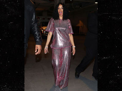 Cardi B Shimmers in Sequin Outfit at Madison Square Garden