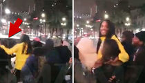 Waka Flocka Flame Saves Selfie-Taking Fan From Being Hit By Car