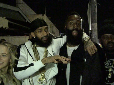 Nipsey Hussle Bros Down w/ James Harden, You're an L.A. Legend!