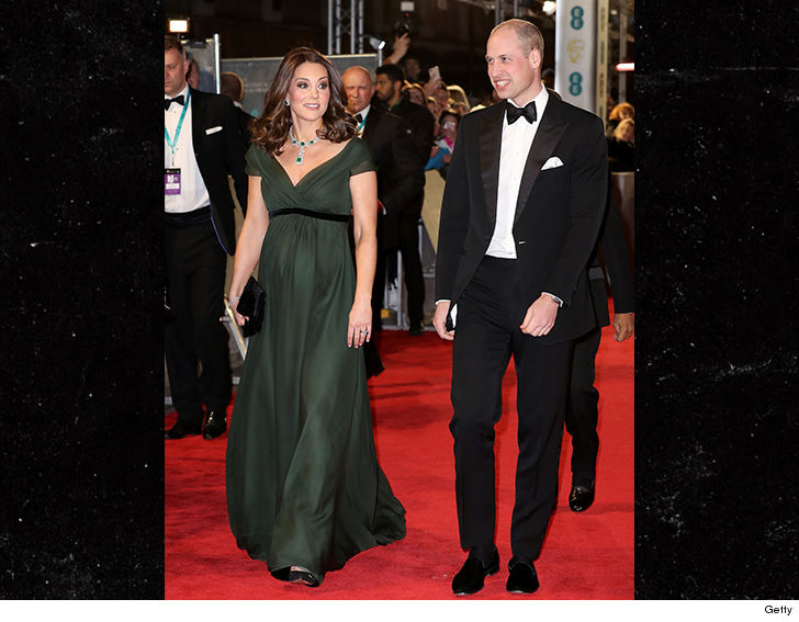 Kate Middleton Breaks Baftas Times Up All Black Dress Code With