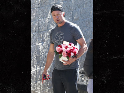 Josh Duhamel Visits Fergie with Roses, Son After National Anthem Disaster