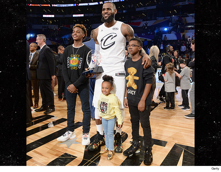 Captain LeBron won MVP at the All-Star game ... but his offspring were the  ones rockin' garments fit for a King.