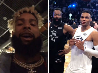 Odell Beckham Jr. Trolls Russ and Harden in All-Star Roast Sesh