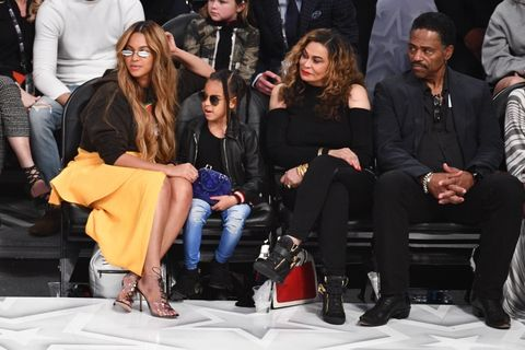 Beyonce, Blue Ivy and Tina Knowles